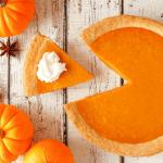 Enjoy a slice of delicious Pumpkin Pie